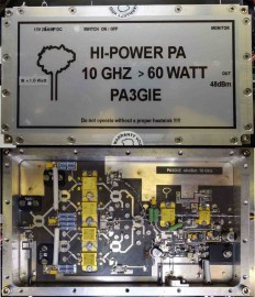 Eindtrap 60 Watt Typical voor 3cm EME  10.368 GHz